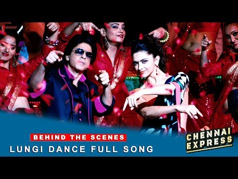 Chennai Express - Shah Rukh Khan & Deepika Padukone - Lungi Dance Full Song Making Travel Video