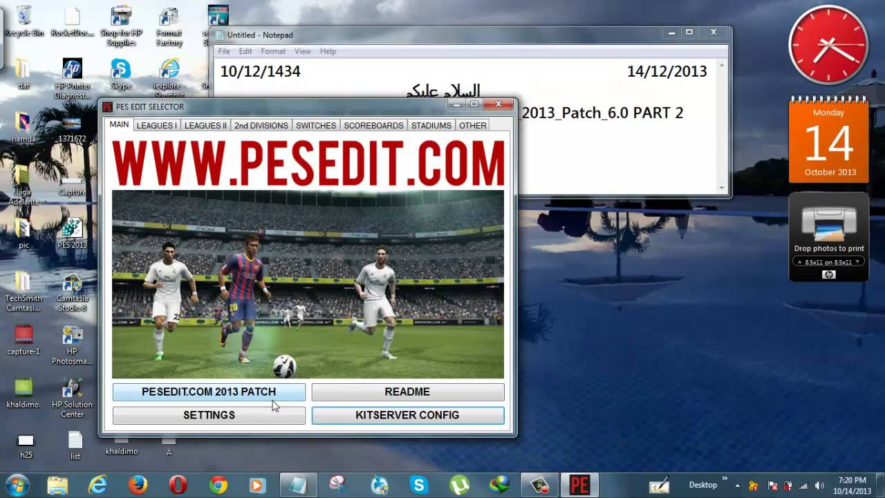 Pes 2013 pesedit patch 6. 0 update season 2017-2018 v7. 08 pes patch.