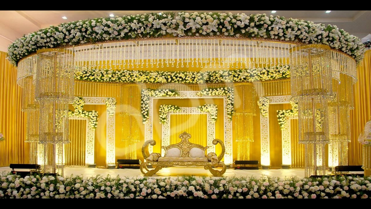 Wedding stage flower decorations youtube wedding stage flower decorations junglespirit Gallery