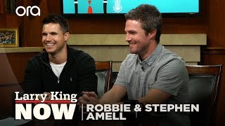 ​Robbie and Stephen Amell on superheroes, working together, and 'Arrowverse'