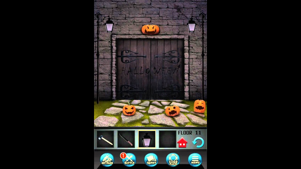 100 Floors Seasons Tower Level 11 Halloween Walkthrough