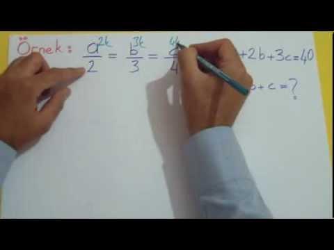 Oran Orantı 1 Şenol Hoca Matematik