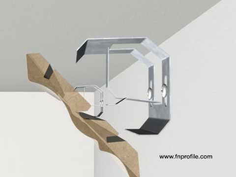clipholder ch14 f r deckenleisten montage youtube. Black Bedroom Furniture Sets. Home Design Ideas
