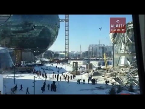Обрушенную конструкцию на   Экспо 2017 обещают восстановить за месяц (23.11.16)