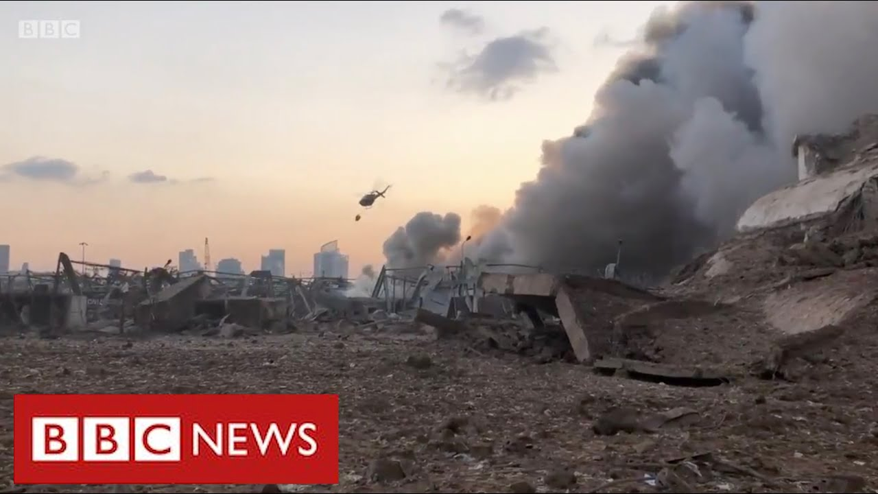 Rescuers in Beirut search for dozens missing after massive explosion- BBC News