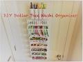 DIY Dollar Tree Over the Door Craft Organizer- 150+ Washi Organizer - Easy Less than $5
