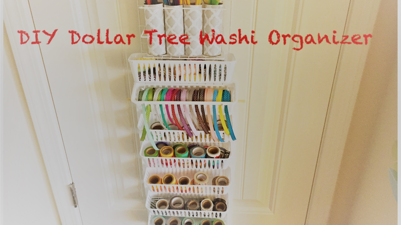 Diy Dollar Tree Over The Door Craft Organizer 150 Washi Organizer