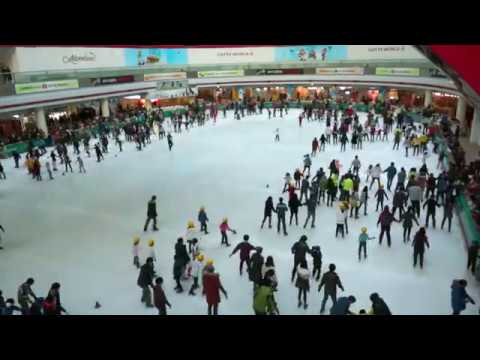 Koreans Ice Skating At Lotte World - Free Stock Footage