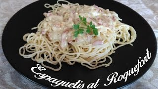 Espaguetis al Roquefort. El Menú del GUERRERO