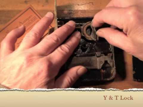 Reversing the strike bar on an antique mortise door lock
