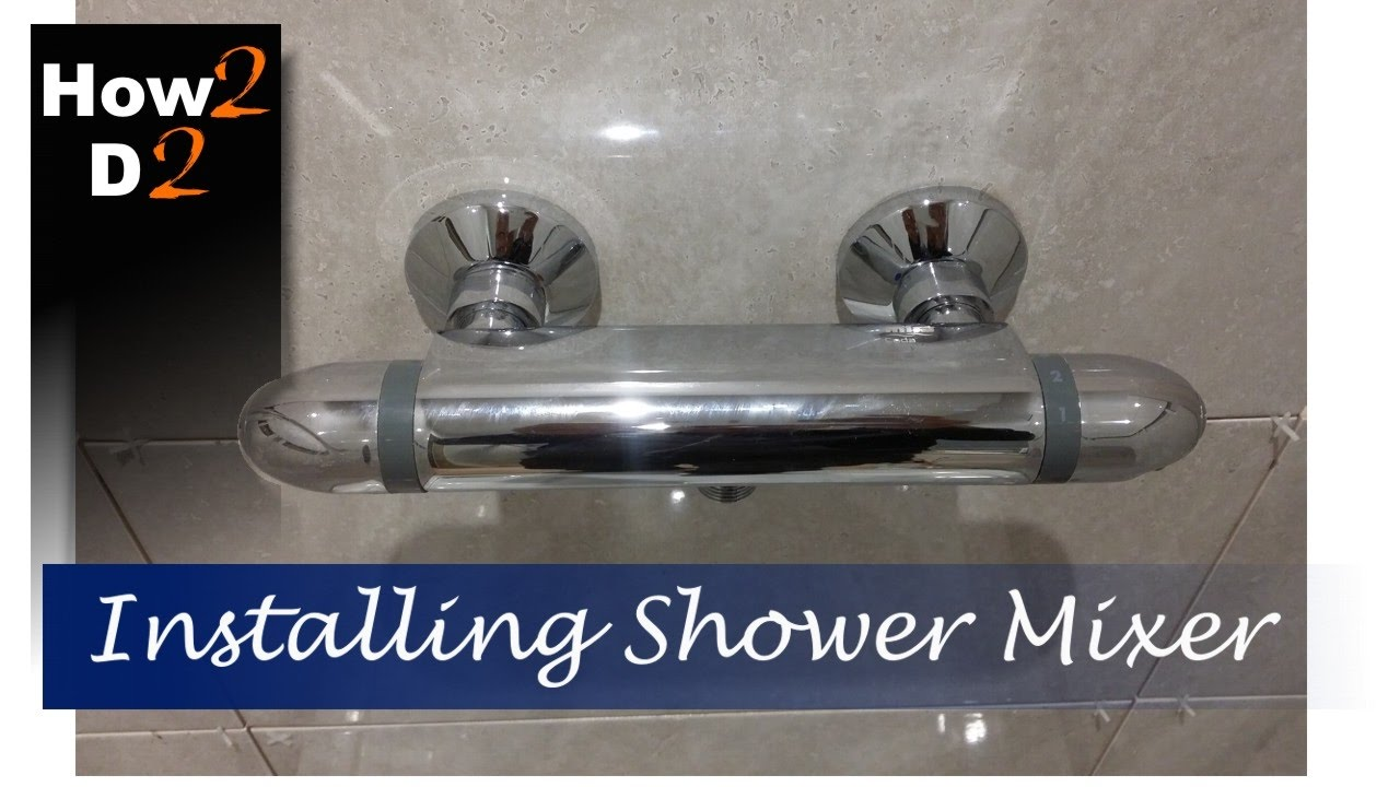 Plumbing Shower Mixer Plumb Install Shower Mixer Thermostatic Tap