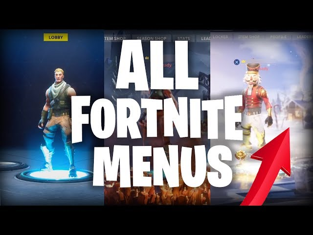 Evolution of the Fortnite Menu