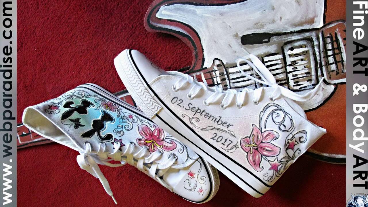 Sneakers Chucks Schuhbemalung Bemalte Schuhe Handbemalt Airbrush