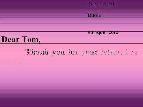 письмо на английском для знакомства