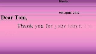 Презентация Правила написания письма личного характера на английском языке