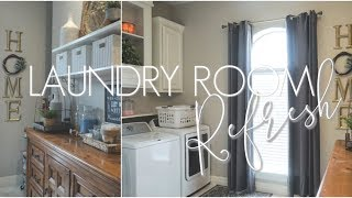 CLEAN & ORGANIZE WITH ME || LAUNDRY ROOM MAKEOVER