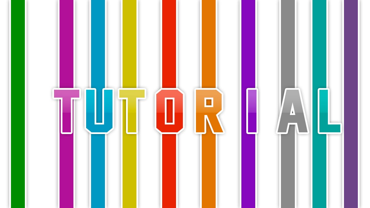 Photoshop Texto De Lineas De Colores Tutorial