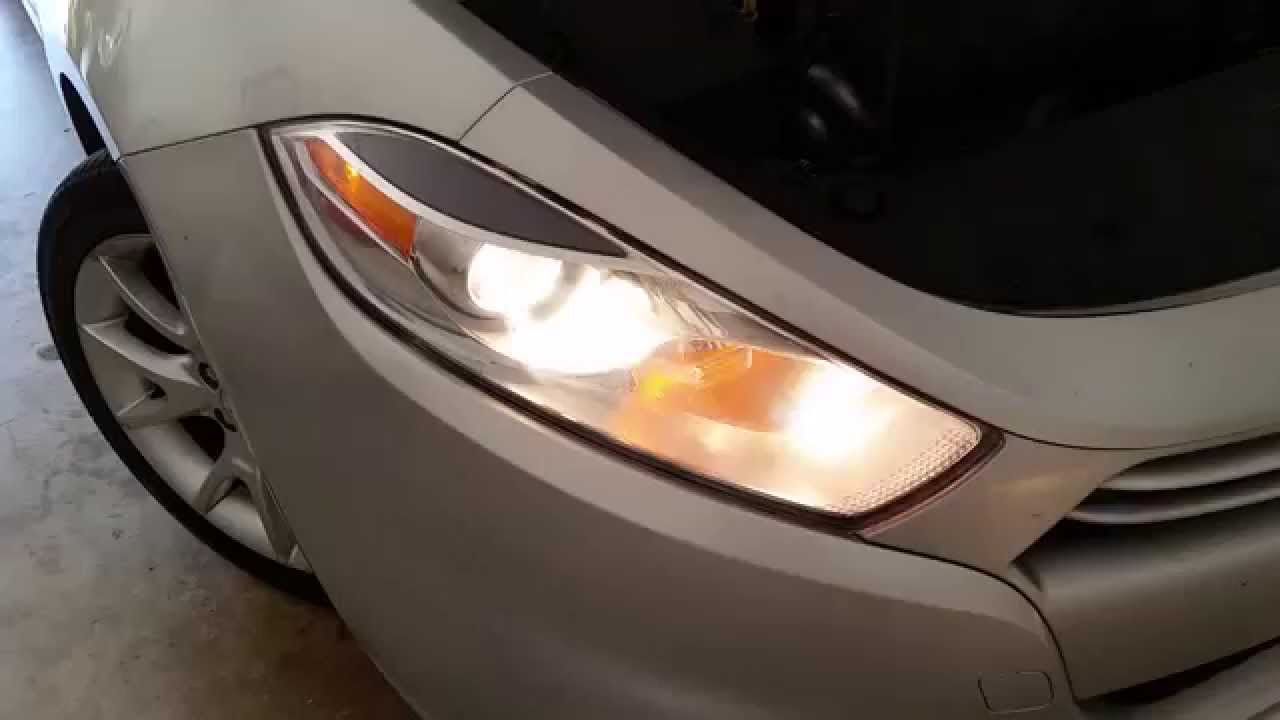 maxresdefault 2013 2016 dodge dart testing headlights after changing bulbs 2013 dodge dart headlight wiring diagram at edmiracle.co