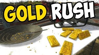 OUR FIRST BAR OF GOLD!! - Gold Rush: The Game Gameplay Introduction