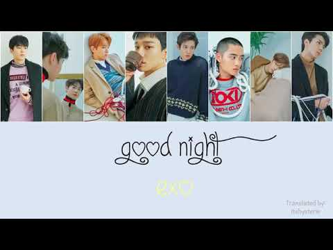 EXO - Goodnight Lyrics [Hang/Rom/Eng]