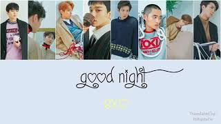 EXO - Goodnight Lyrics [Hang/Rom/Eng]