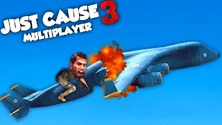 ON A CASSÉ L'AVION ! (JUST CAUSE 3 Multiplayer Fun)
