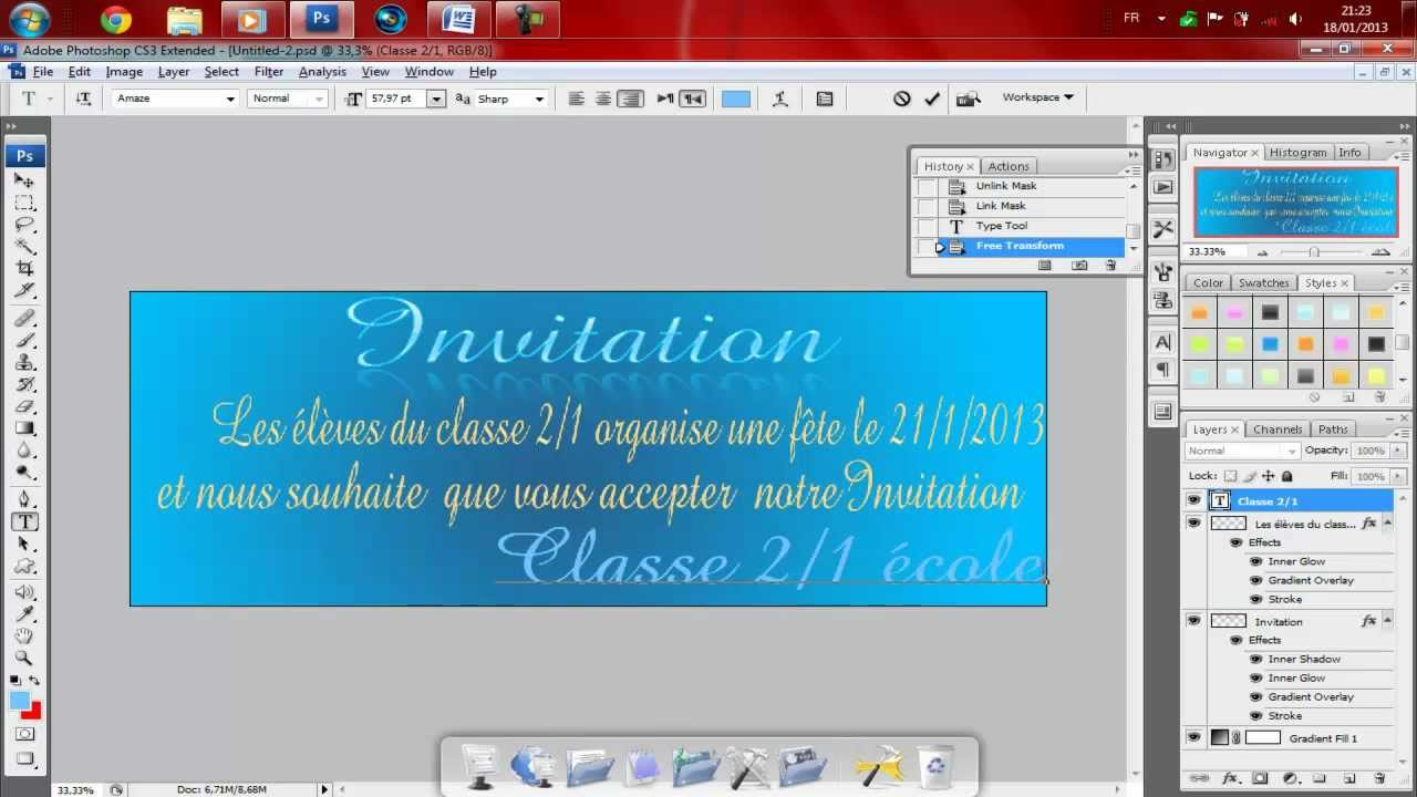 Comment Faire Une Carte D Invitation Sur Word | Carte De Paris