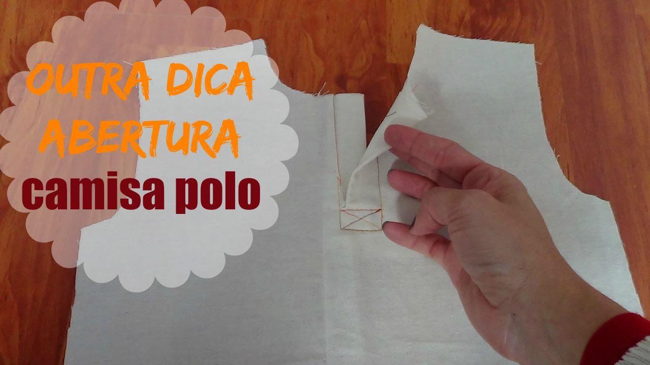 43bde6a081 VEDA  28 Outra técnica de abertura Camisa Polo