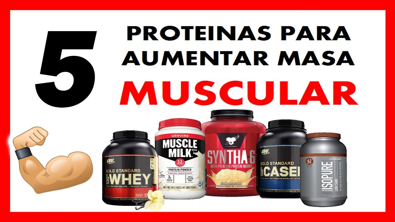 proteinas masa muscular whey
