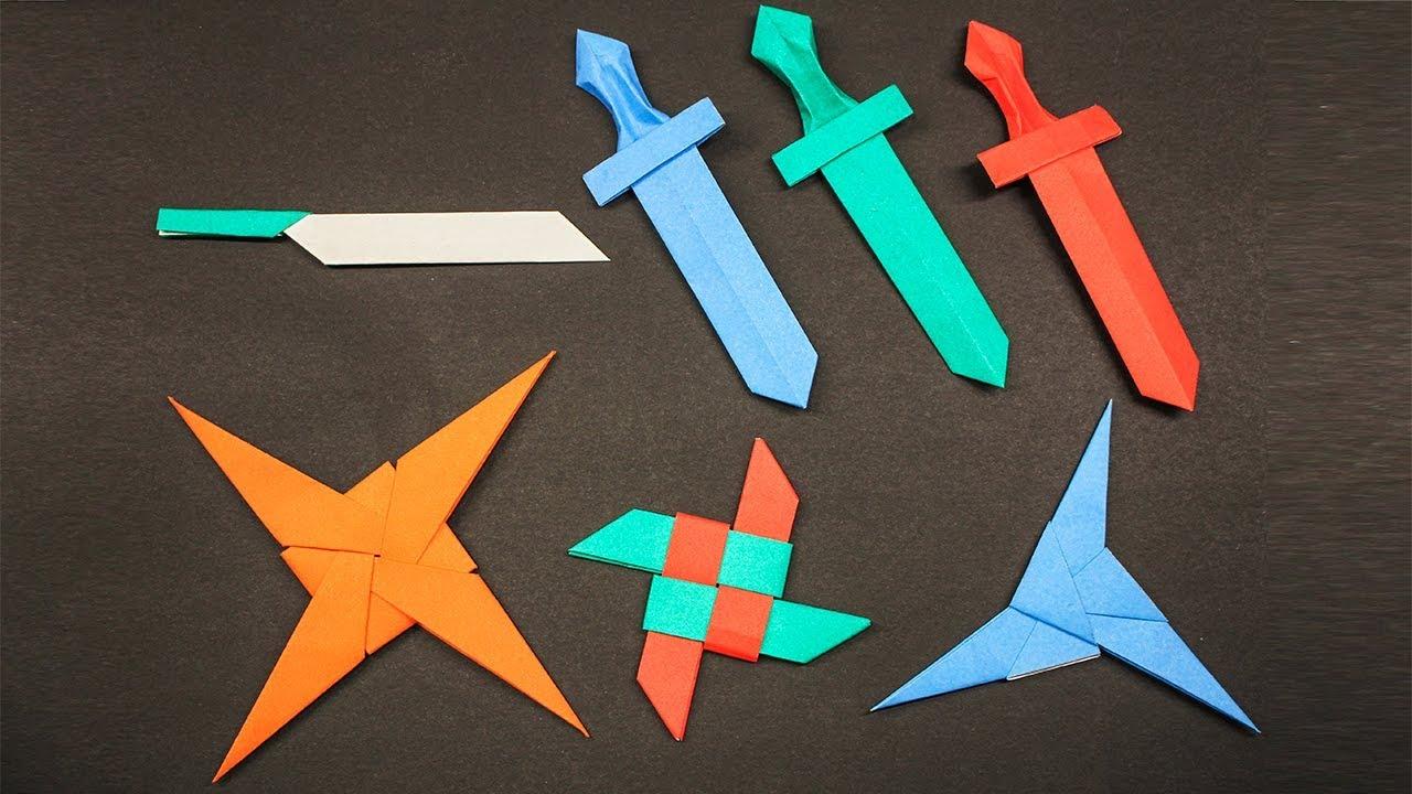 Easy Origami Ninja Star Sword Knife How To Make Youtube An Style Craft Ninjastar