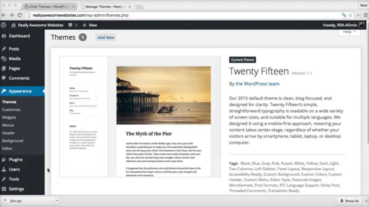 How to install child themes in WordPress