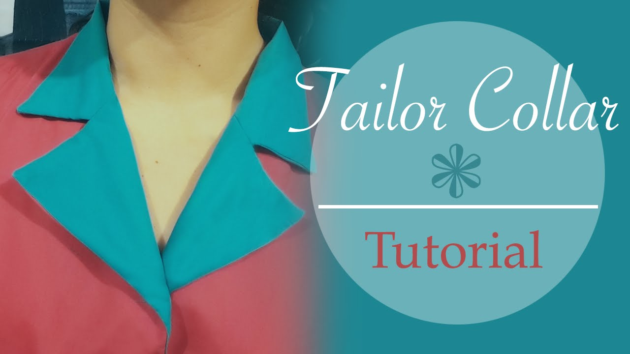 Tailor collar / Notched collar - tutorial, patterns