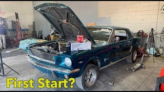 MY BURNED 1966 Mustang Fired Right up! Rebuilding a Burned Mustang Part1