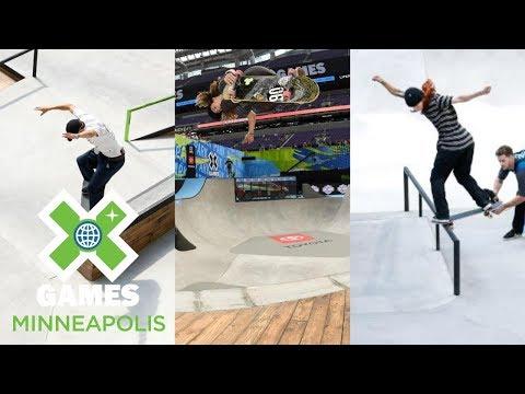 Men's Skate Street Qualifier, Next X Skate Park & Street: FULL BROADCAST   X Games Minneapolis 2018