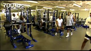 Larry Allen 700 Pound Bench Press - Hall Of Famer