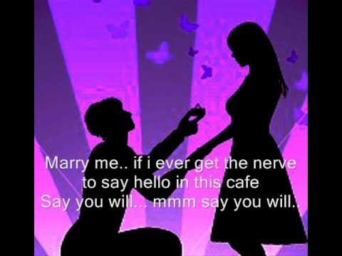 marry me train lyrics pdf
