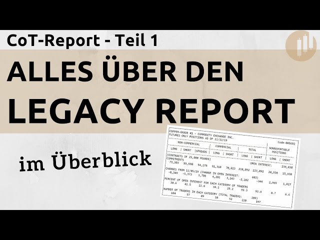 CoT-Legacy-Report: Was ist das?