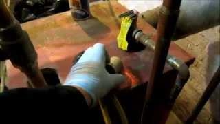 boiler leaking water,a few repairs,purge air from zones