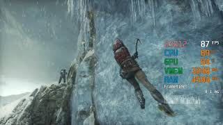 GeForce RTX 2060 -- Intel Core i3-8100 -- Rise of the Tomb Raider ROTTR Benchmark