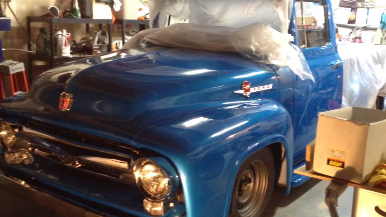 1956 Ford F100 Grille Assembled Youtube 1955 Hood