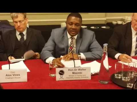 Making Tourism Work For Africa Part 1   - Hon Walter Mzembi At Chatham House