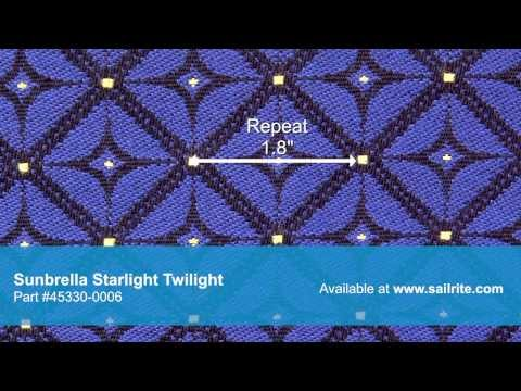 Video of Sunbrella Starlight Twilight 45330-0006 - Sunbrella Furniture Fabric Starlight Twilight