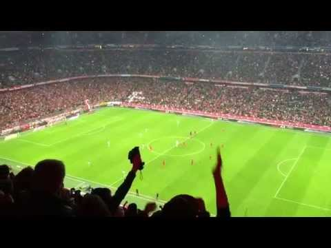 Bayern Munich vs Wolfsburg 22 September 2015- 1st and 2nd goal stadium celebration
