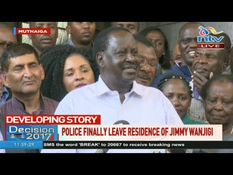 Raila confirms he was detained at Wanjigi's home and insist the State has gone rogue