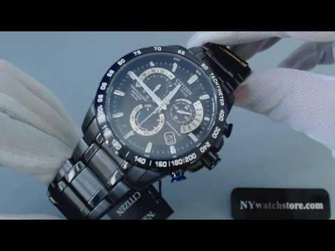 Men's Citizen Eco Drive Perpetual Chronograph A T Watch AT4007 54E