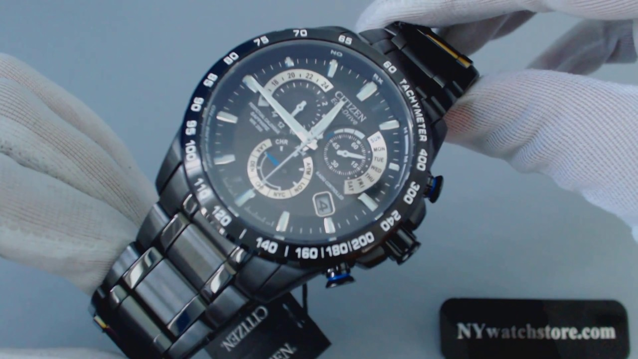 4625634fe Men's Citizen Eco Drive Perpetual Chronograph A T Watch AT4007 54E - YouTube