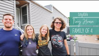 Tiny4Life: Family of Four Living in a Tiny House Tour