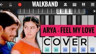 Arya - Feel My Love    Piano Cover  Allu Arjun   DSP