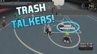 TRASH TALKERS GET DROPPED AND BROKE! [RB WORLD 3 PARK ROBLOX]