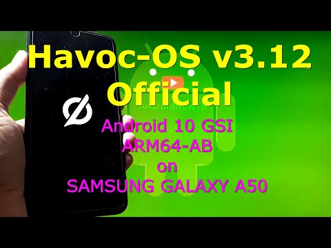 Havoc-OS v3.12 Android 10 Official for Samsung Galaxy A50